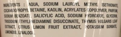 Shampooing purifiant à l'extrait de thym bio & de citron bio de Provence - Ingredients