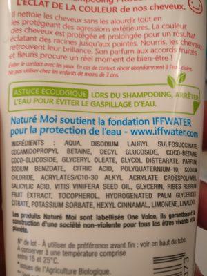 shampooing couleur éclat nature moi - Ingrédients