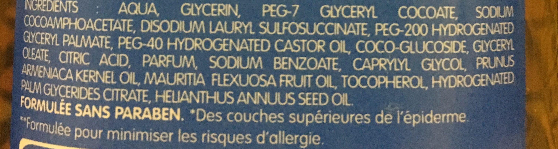 Huile lavante apaisante corps et cheveux - Ingredients - fr