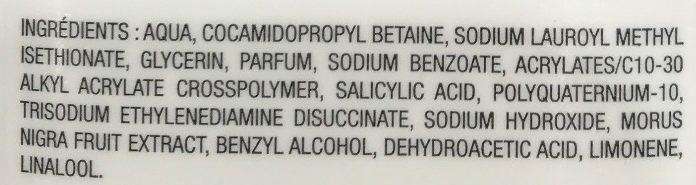 Gel douche exaltant à l'extrait de mûre bio de Bretagne - Ingredients - fr