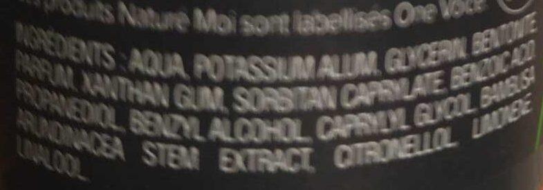 Déodorant pierre d'alun stimulant - Ingrédients - fr