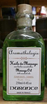 Huile de massage aux huiles essentielles - Produit