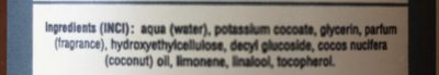 Savon liquide de Marseille - Ingredients