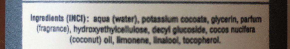 Savon liquide de Marseille - Ingrédients