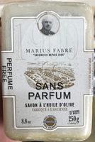 Savon à l'huile d'olive sans parfum - Product