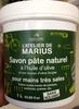 Savon pâte naturel à l'huile d'olive et aux noyaux d'olive broyés - Produit
