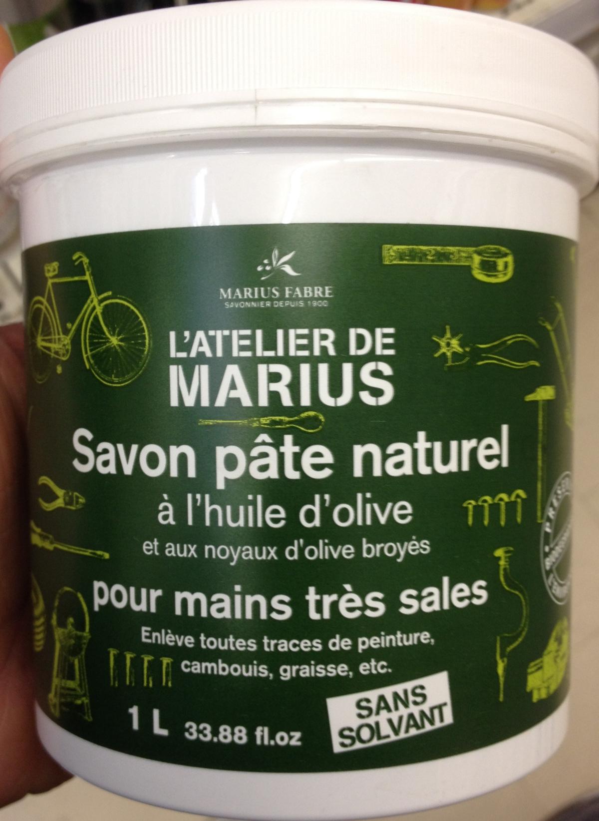 Savon pâte naturel à l'huile d'olive et aux noyaux d'olive broyés - Product