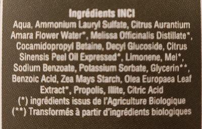 Shampoing Usages Fréquents aux Huiles Essentielles - Ingredients
