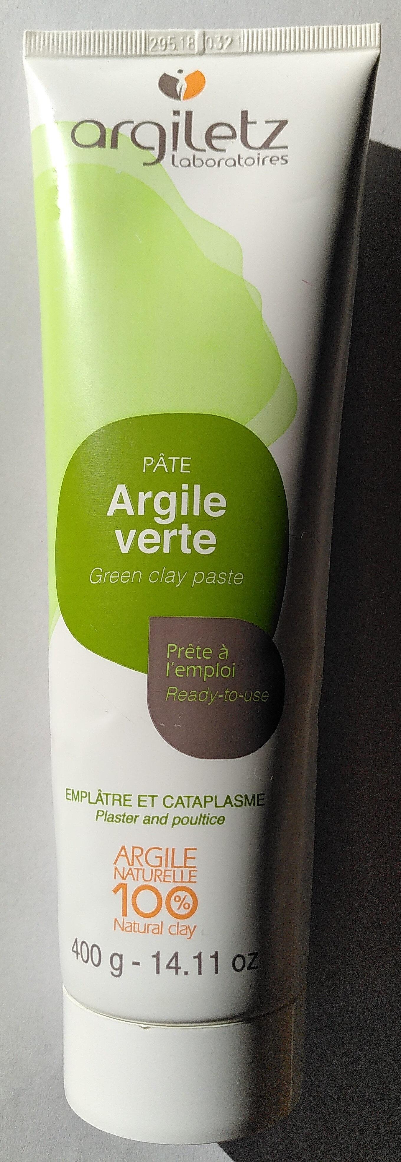 Pâte argile verte - Produit