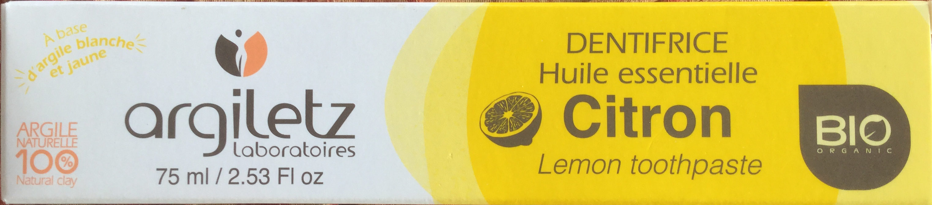 Dentifrice huile essentielle citron - Product - fr