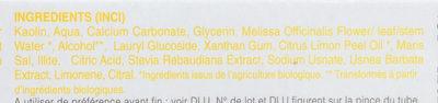 Dentifrice huile essentielle citron - Ингредиенты - fr