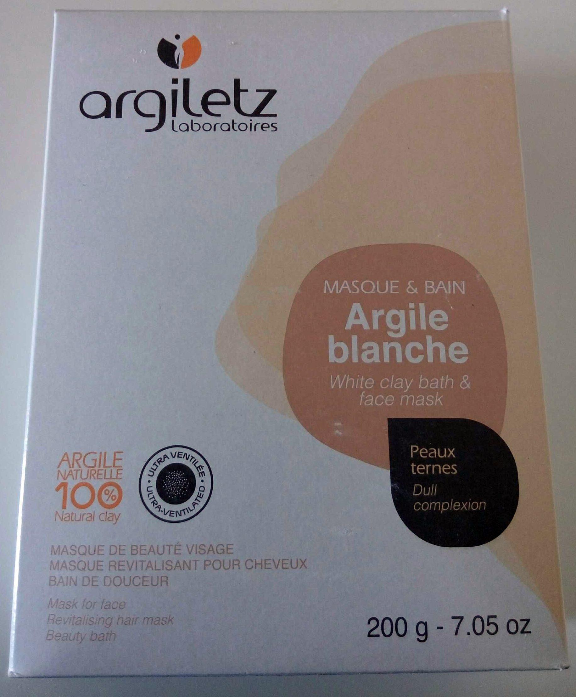 Masque et bain argile blanche - Produit