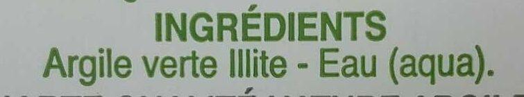Pâte argile verte - Ingredients - fr