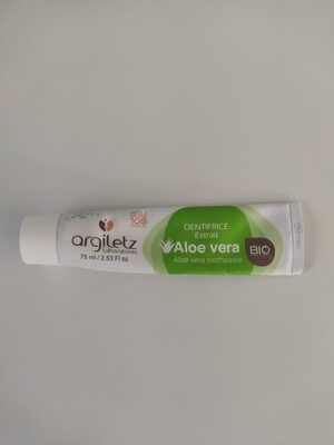 Dentifrice extrait aloe Vera bio - Product - fr
