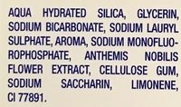 Tradition Blancheur Bicarbonate Purifiant, Extraits naturels de Menthe, Citron, Camomille - Ingredients