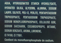 Dentifrice au fluor arôme menthe - Ingredients