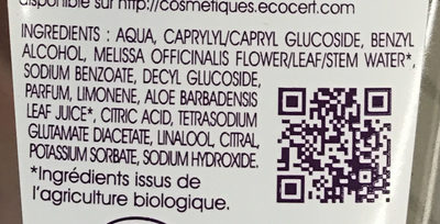 L'Eau Micellaire Bio - Ingredients