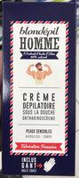 Crème dépilatoire sous la douche Homme Peaux sensibles - Produit