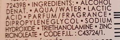 Déodorant Fraîcheur Extrême 24h - Ingredients - fr