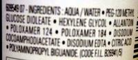 Démaquillant yeux peaux sensibles - Ingredients - fr