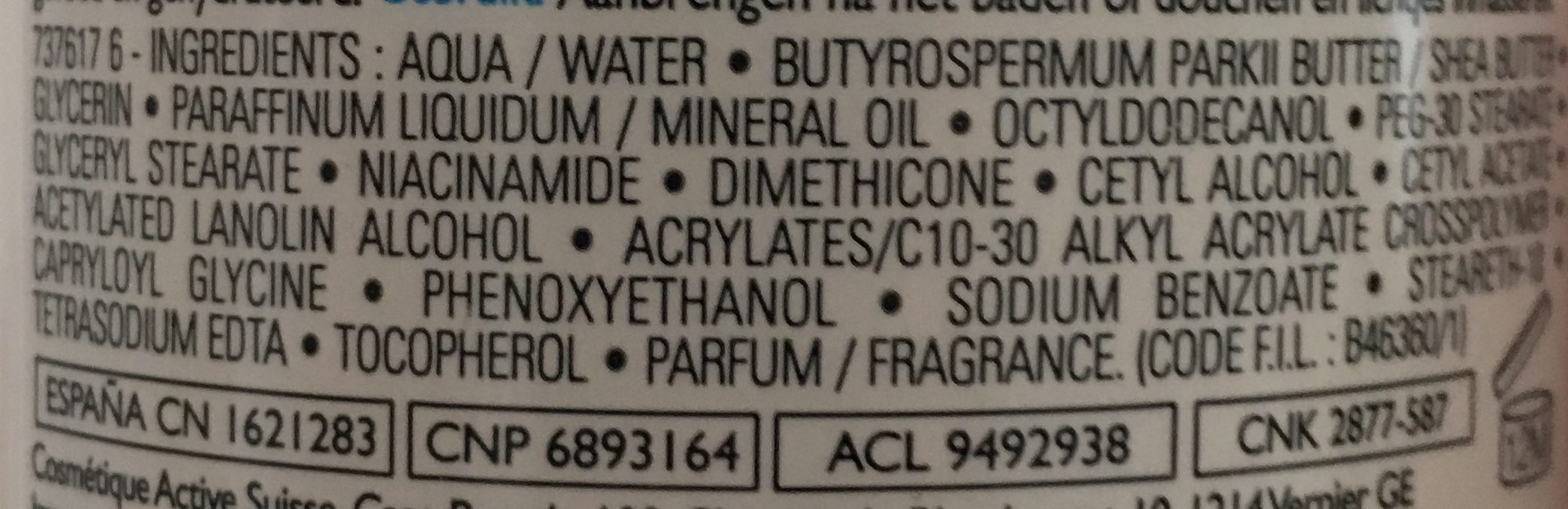 AfterSun - Ingredients - fr
