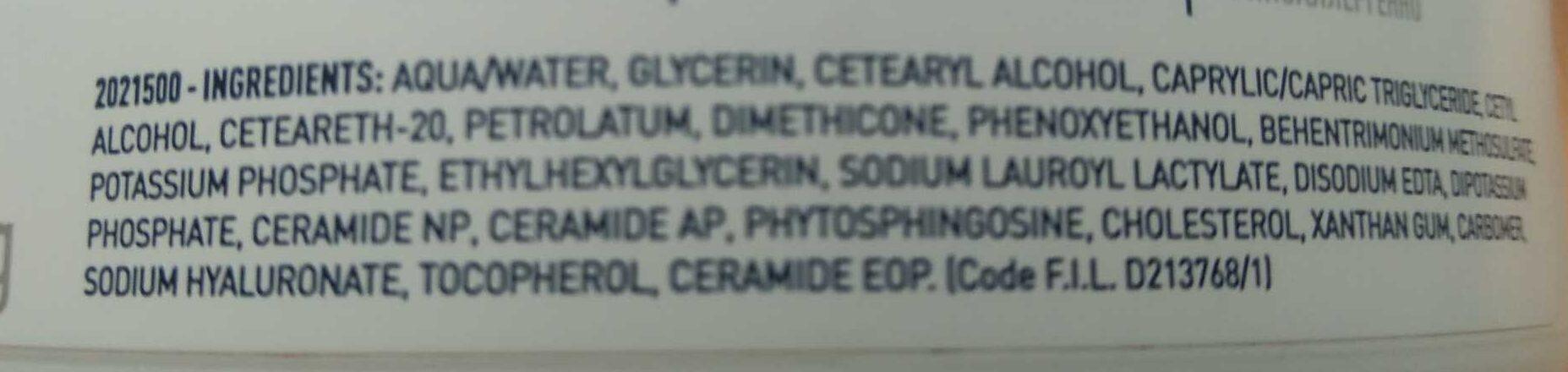 Crema Idratante - Ingredients
