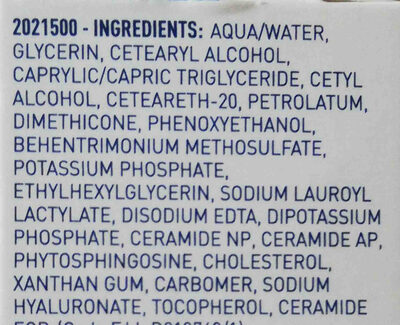 Cerave Moisturising Cream - Ingredients - en