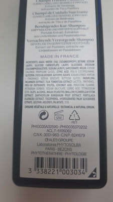 Shampoing traitant apaisant - Ingredients - fr