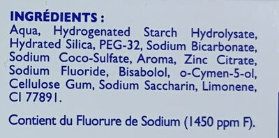 Soin blancheur - Ingredients