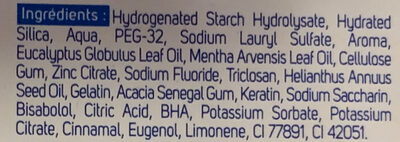 Multiprotection Menthe & Eucalyptus - Ingredients - fr