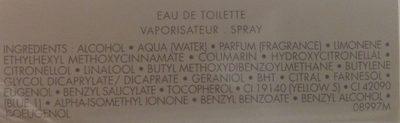 La petite robe noire eau fraîche - Ingredients