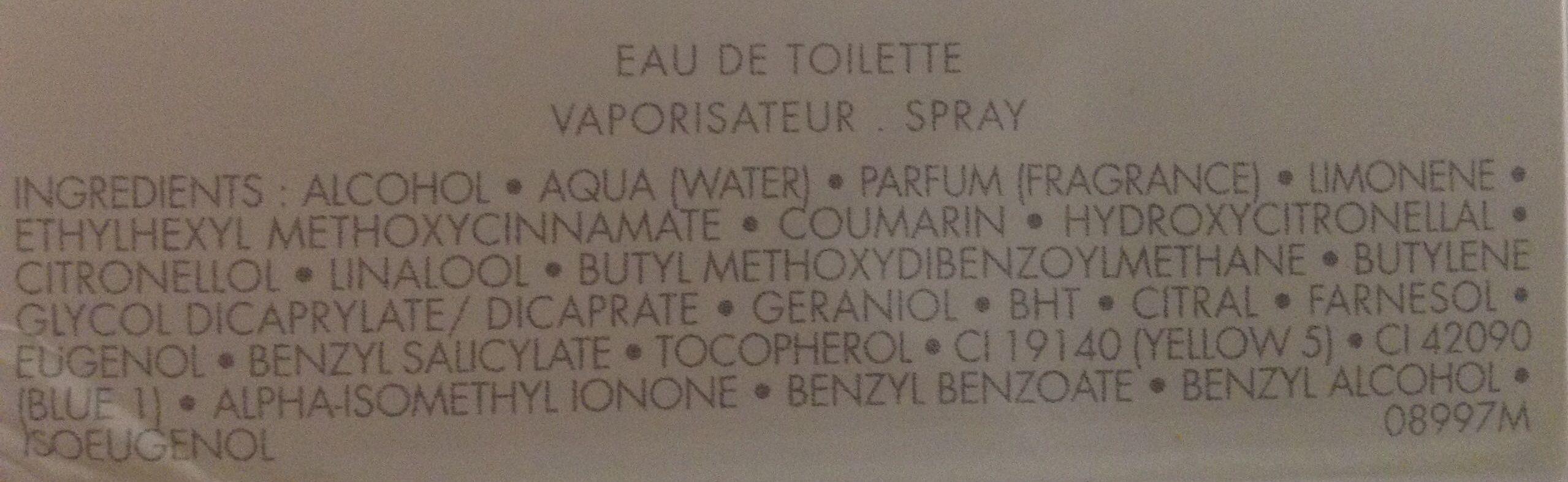 La petite robe noire eau fraîche - Ingredients - fr
