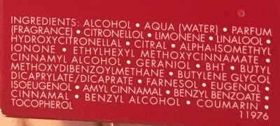 Habit rouge - Ingredients