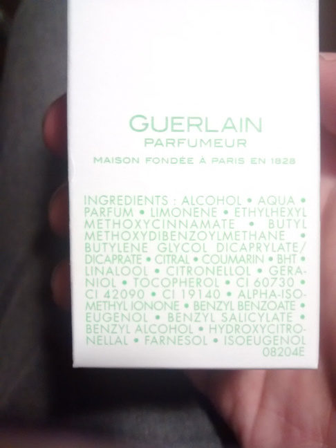 Aqua allegoria limon Verde - Ingredients