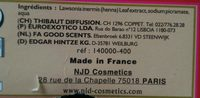 Henné Color - Poudre Colorante Acajou - 100G - Ingrédients