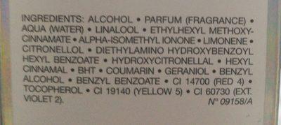 Dior Addict Eau De Toilette 30ML - Ingredients