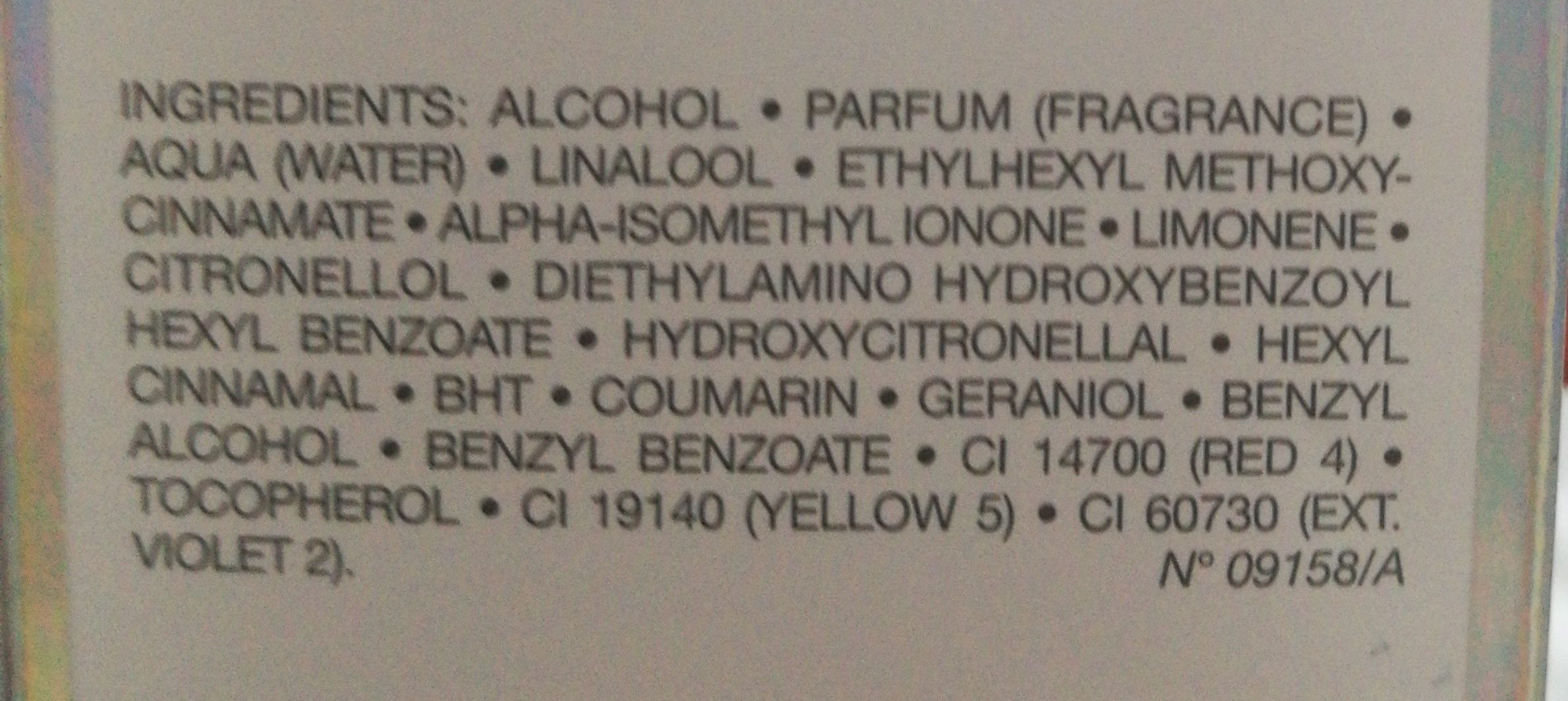 Dior Addict Eau De Toilette 30ML - Ingredients - fr