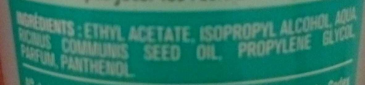 Dissolvant Soin - Ingredients