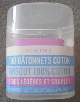 160 bâtonnets coton - Produit
