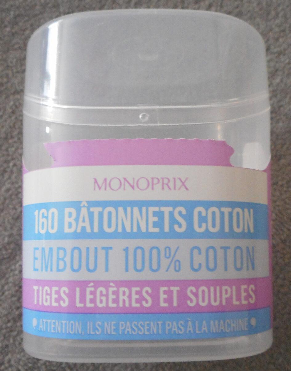 160 bâtonnets coton - Produit - fr