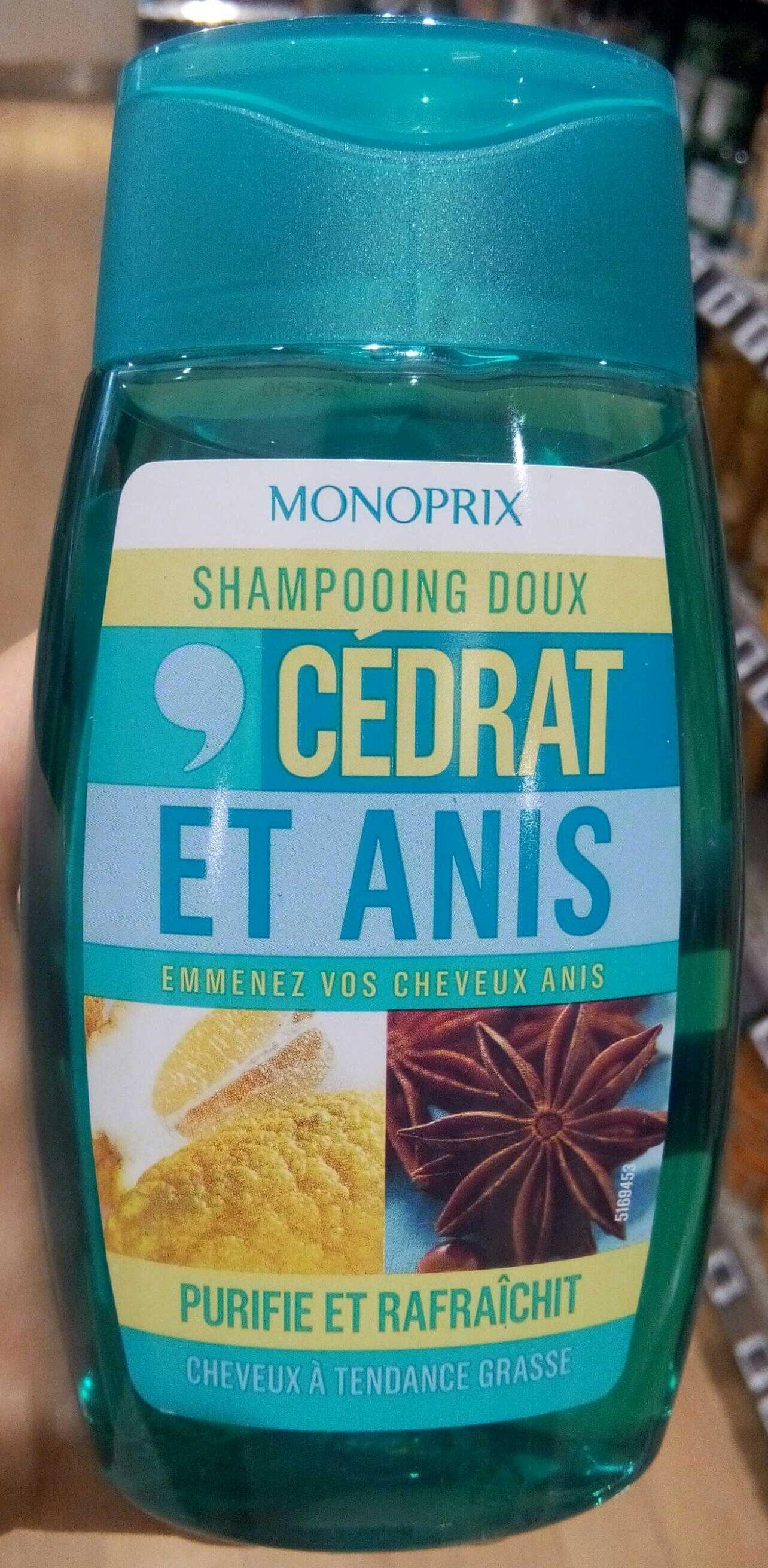 Shampooing doux cédrat et anis - Product