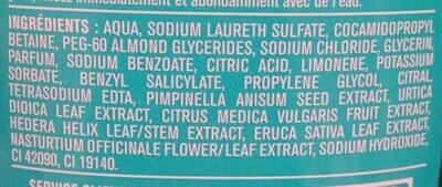 Shampooing doux cédrat et anis - Ingredients