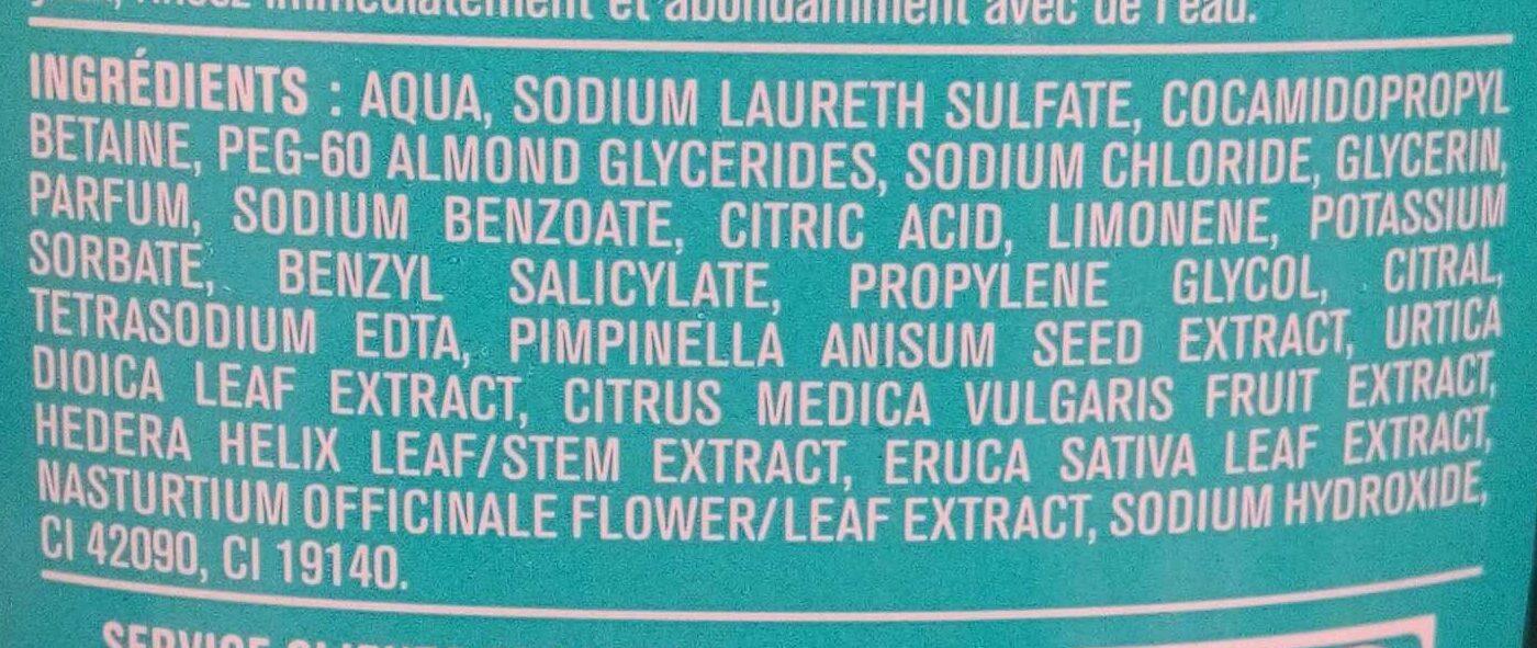 Shampooing doux cédrat et anis - Ingredients - fr