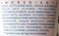Crème de soin hydratante au beurre de karité - Ingredients
