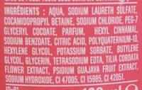 Shampooing doux goyave fleur de tilleul - Ingredients