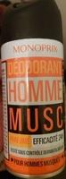 Déodorant Homme Musc Parfumé 24H - Product