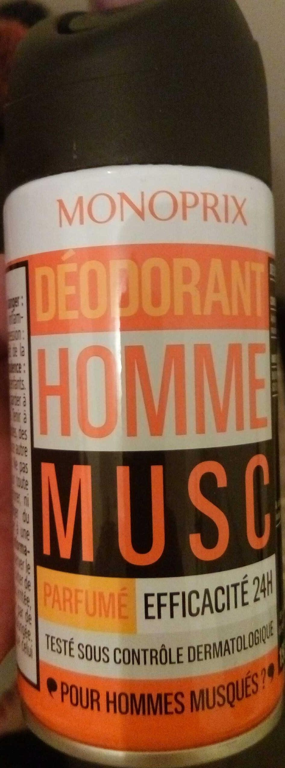 Déodorant Homme Musc Parfumé 24H - Produit