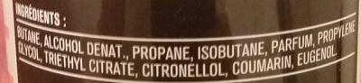 Déodorant Homme Musc Parfumé 24H - Ingredients