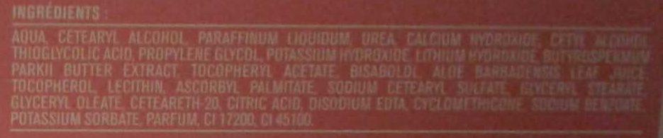 Crème dépilatoire peaux sensibles beurre de karité - Ingredients - fr