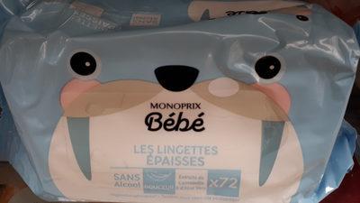 lingettes BB épaisses Monoprix - Produit - fr